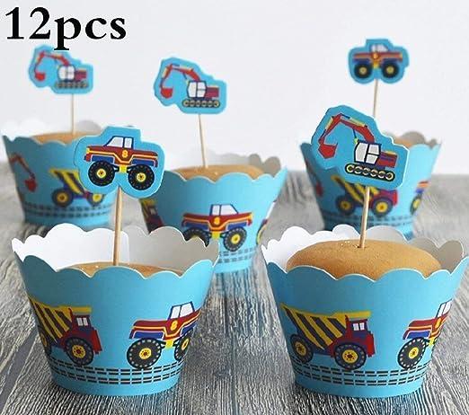 Toppers y envoltorios de pastel, Cars Shape Cupcake Paper ...