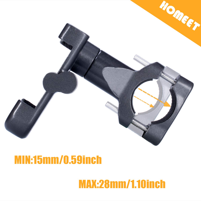 Homeet Fahrrad Handyhalterung Universal Fahrrad Lenker Handy Halterung für 4-6,8 Zoll Smartphone und GPS Geräten mit 360° Drehbar