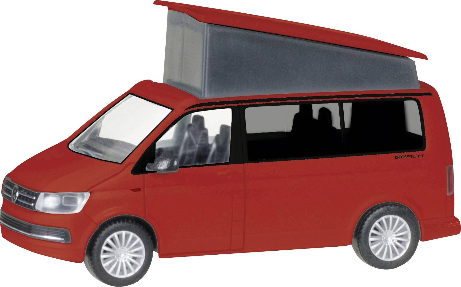 HERPA 028745-002'' Vw T6 California Model Set, Cherry Red