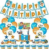 Blippi Birthday Party Supplies for Blippi Party Supplies Birthday Decorations Party Pack For Kids,with Blippi Balloons…
