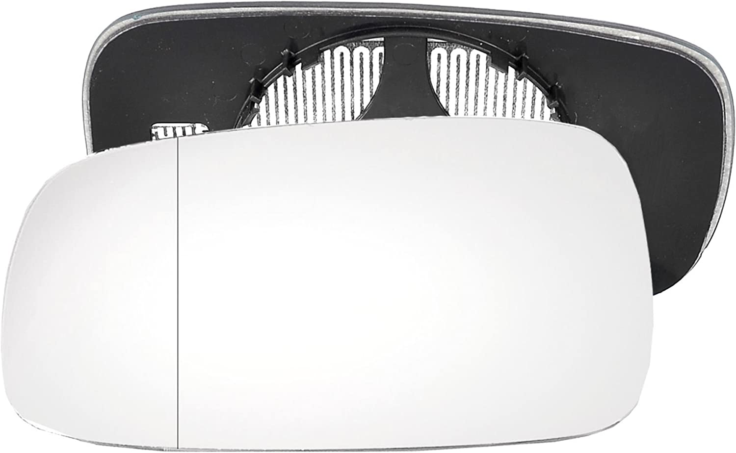 Passenger left hand side Heated wing door Silver mirror glass with backing plate #W-SHY//L-RTSC04 Clip On