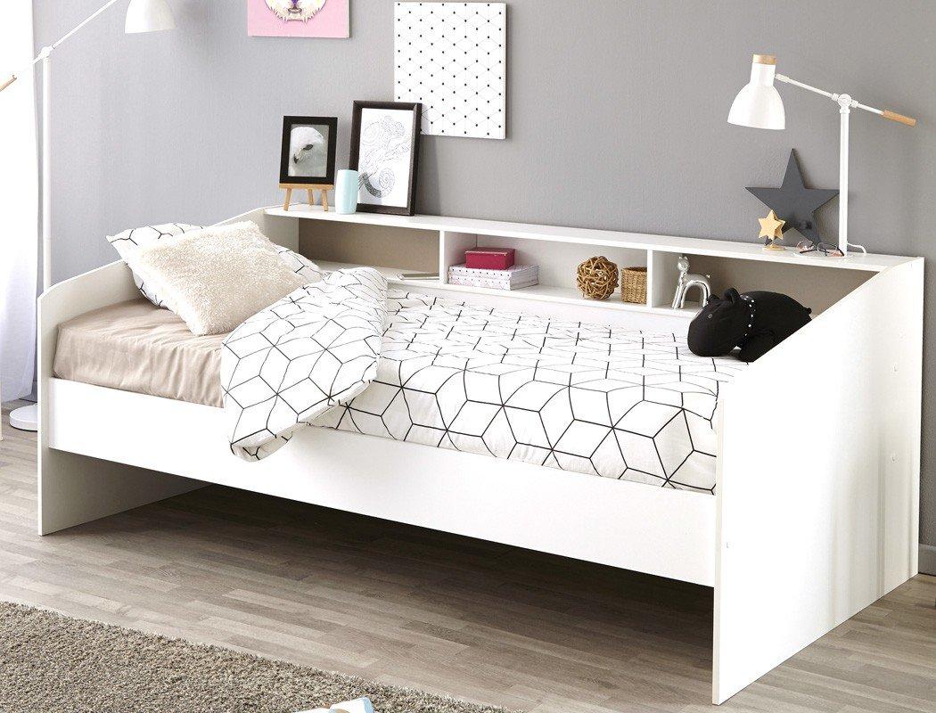 Bettgestelle Ohne Matratze Möbel Jugendbett Bett 90x200 Weiß