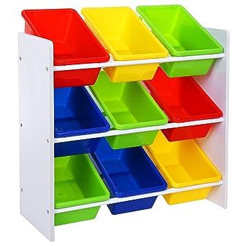songmics meuble de rangement pour jouets et livres chambre denfant gkr01w