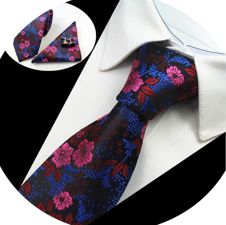Chibi-store Mans Tie Floral 100/% Silk Jacquard Necktie Gravata Corbatas Hanky Cufflinks Tie Set,YZ 02