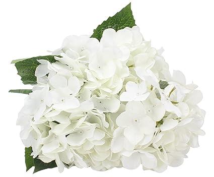 Amazon duovlo artificial silk hydrangea flower with 6 heads duovlo artificial silk hydrangea flower with 6 heads flower bunch bouquet home wedding garden floral decor mightylinksfo