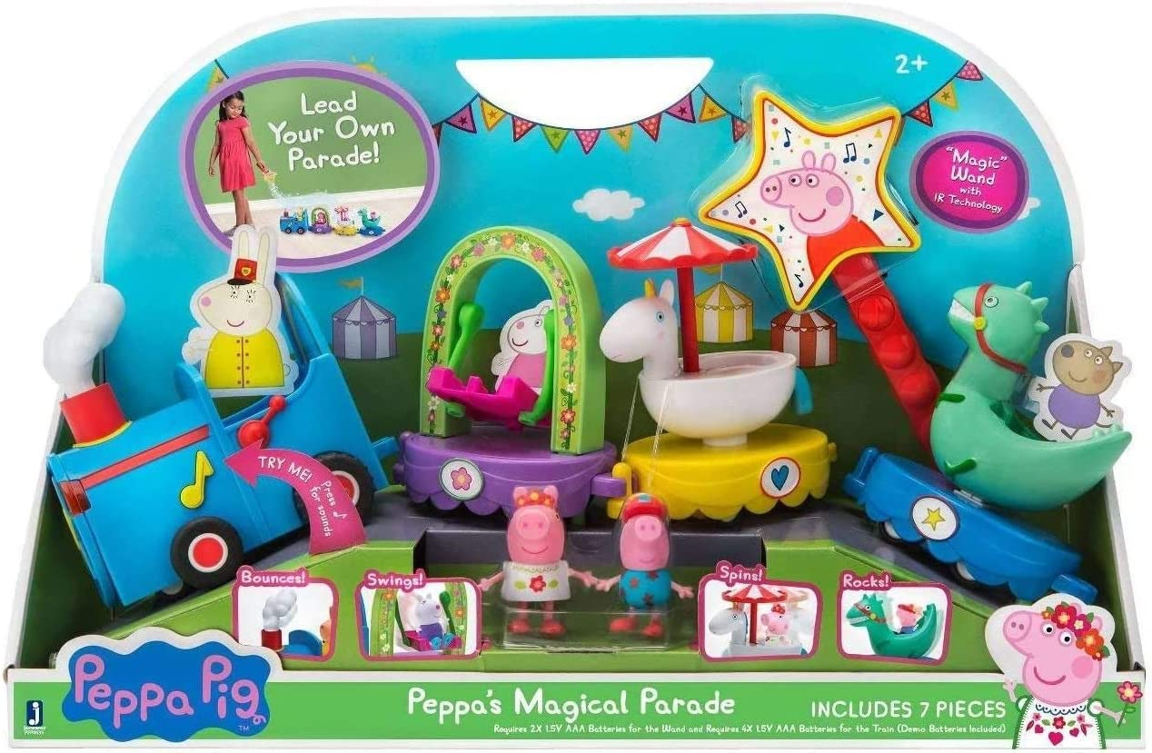 Peppa Pig Peppas Magical Parade Train Playset: Amazon.es: Juguetes y juegos