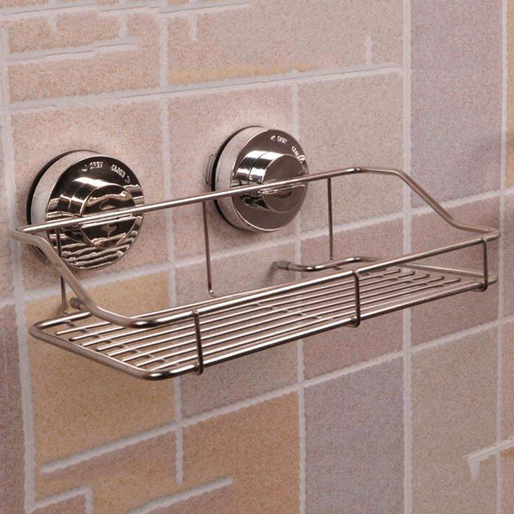 CWJ Shelf-Extremely Firm Shower Shelf Power Vacuum Sucker Bathroom Bathroom Kitchen Seamless Shelf Bathroom Angle Free Wall Hanger, Two Colors Are Available Ensuring Quality,B