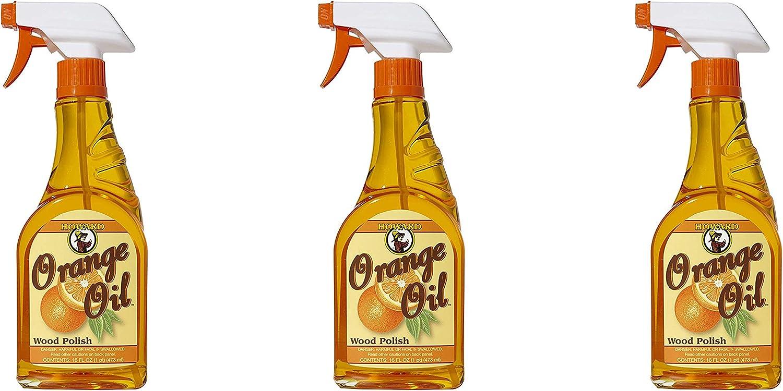 Howard Products ORS016 Orange Oil Wood Polish, 16 oz Pack of 3