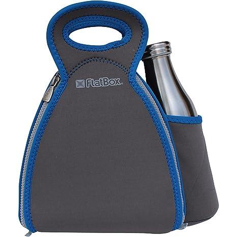 08149584e32e FlatBox DrinX Placemat Lunch Bag (Light Gray/Torqouise/Yellow) (Dark  Grey/Blue/Grey)