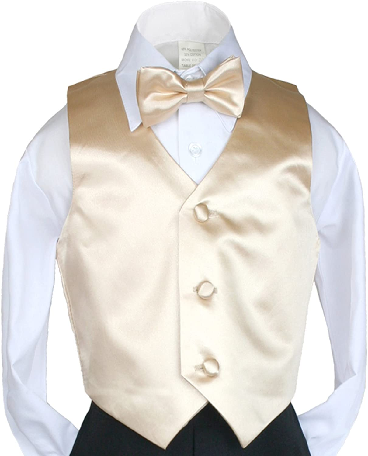 Free Lilac Tie 5-14 New Boy Toddler Kid Formal Wedding Party Tuxedo Suit Vest