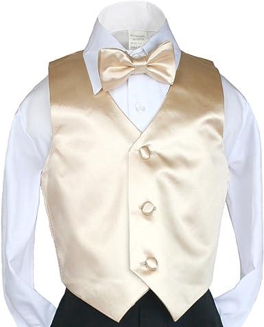 M: 6-12 Months Leadertux 5pc Boys Formal Wedding Light Gray Vest Necktie Sets Suits Outfit S-20
