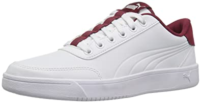 buy popular 56f71 86607 PUMA Men s Court Breaker L Sneaker, Puma White-Tibetan Red, ...