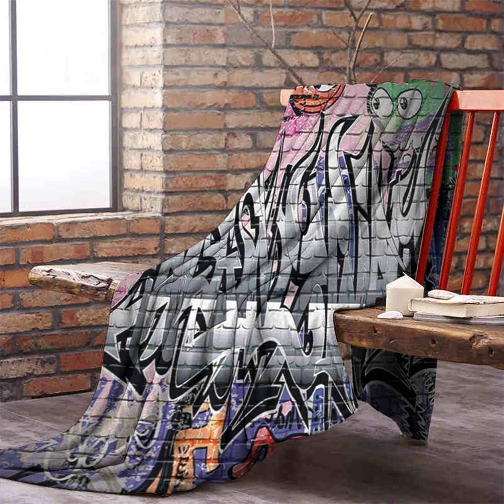 Amazon.com: YOFUHOME Brick Wall Reversible Blanket Graffiti Grunge
