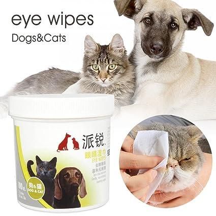 HYGMall 100 piezas / bolsa de baño de limpieza cuidado de mascotas Ojos mojados toallitas suministros