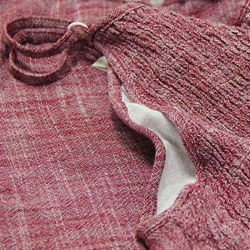 De Nuevo Con Lino Cordón rosado Vestido Y Algodón s Retro Slim La Mujer Mom Correa A8226 ¿puede Verano Bordado 2018 Ropa twCqzwg