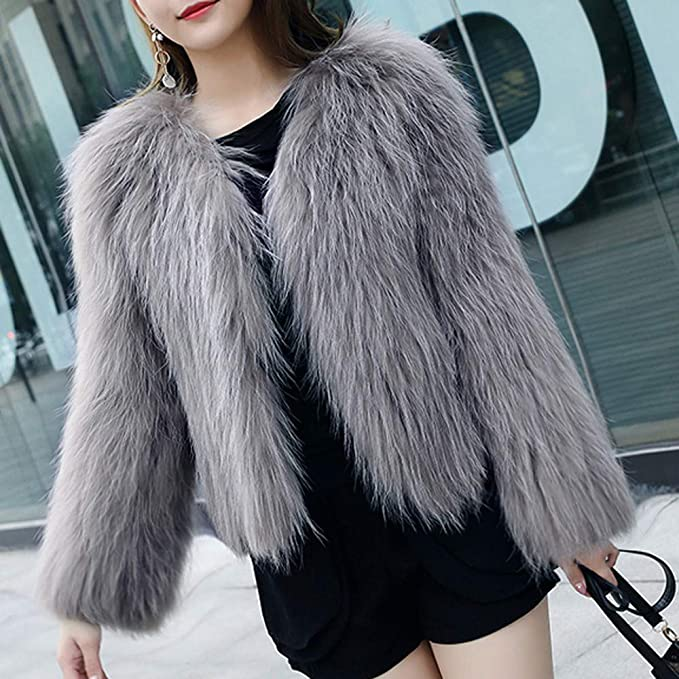 Amazon.com: FarJing Womens Warm Artificial Wool Coat Jacket Winter Parka Outerwear: Clothing