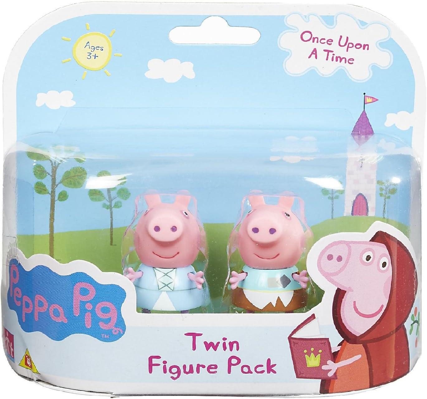 Peppa Pig Once Upon A Time Gemelas Figura Pack- Princesa Peppa y Peppa En Rags (Se distribuye desde el Reino Unido): Amazon.es: Juguetes y juegos