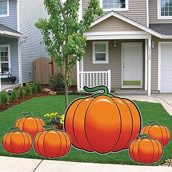 Amazon.com: 6 piezas la Gran Calabaza Halloween Césped ...