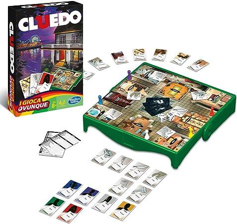 Hasbro Gamings - Cluedo Viaje, Grab & go (versión Italiana): Amazon.es: Juguetes y juegos