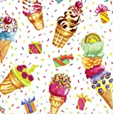 Entertaining with Caspari Ice Cream Party Paper Cocktail Napkins, Pack of 20