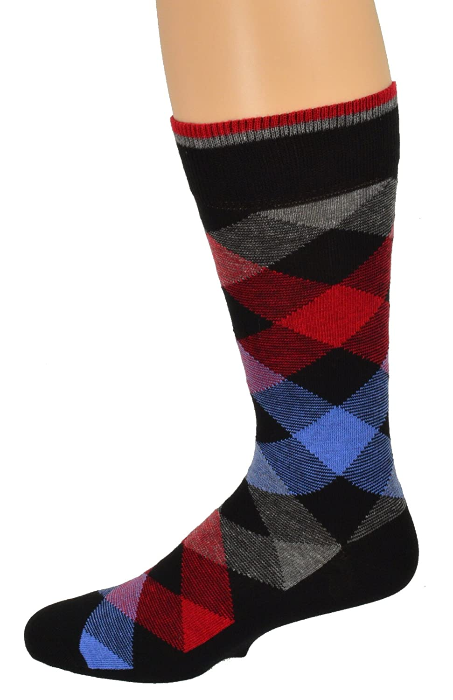 2 or 3 Pairs Sierra Socks Mens Casual Cotton Blend Fashion Design Mid Calf Dress Crew Socks