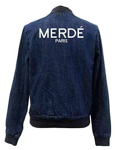 Merde Paris Bomber Chaqueta Girls Jeans Certified Freak