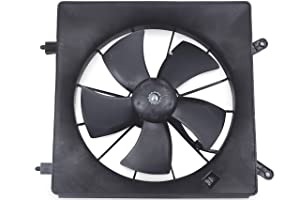 BOXI Left/Driver Side Radiator Cooling Fan Assembly For Honda CR-V 2002-2006 / Honda Element 2003-2011 (Number Of Blades:5) 19030-PNA-003