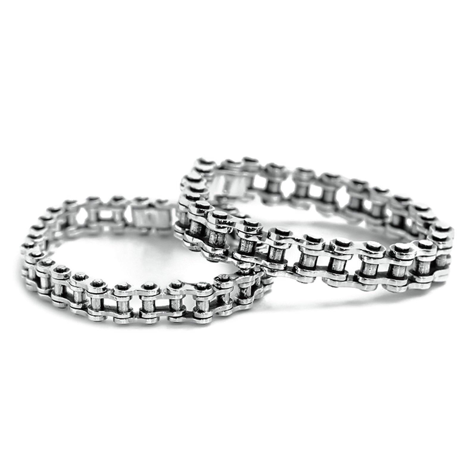 Daesar 925 Silver Bracelet For Women And Men Locomotive Chain Couple Bracelet Silver Chain Length:19CM