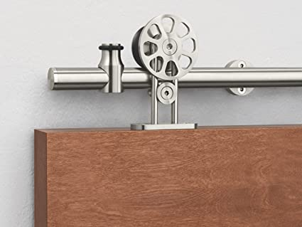 Amazon Kinmade Fortune Stainless Steel Sliding Barn Door