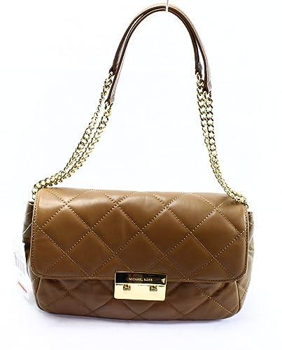 97d7cb0e6110 Michael Kors Sloan Large Quilted Shoulder Flap Mushroom: Handbags ...