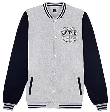 7ea9fc10 SERAPHY BTS Kpop Pulls Sweat-Shirts Bangtan Boys Veste de Baseball pour  Femmes et Hommes