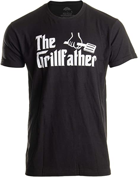 776857234 The Grillfather | Funny Dad Grandpa Grilling BBQ Meat Humor T-Shirt Joke  for Men
