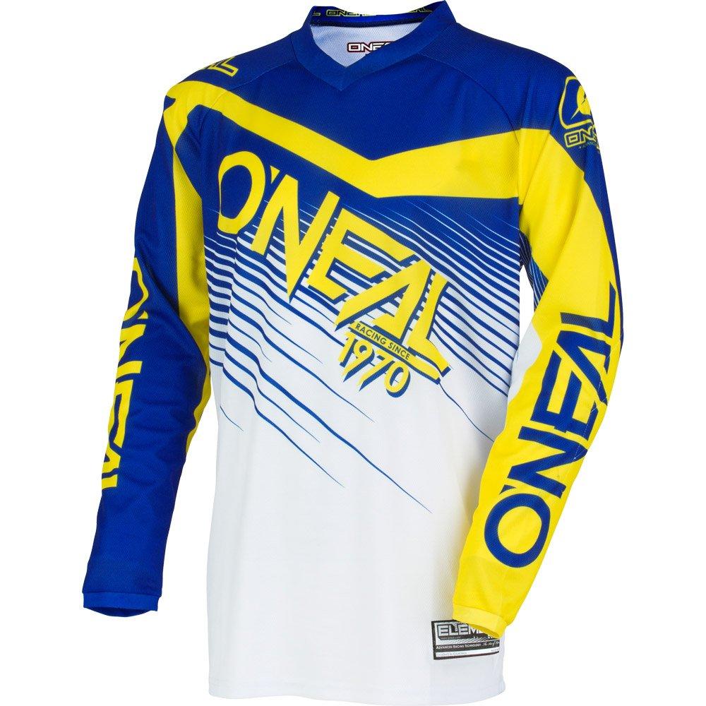 O'Neal 0008-505 Mens Element Racewear Jersey (Blue/Yellow, X-Large)