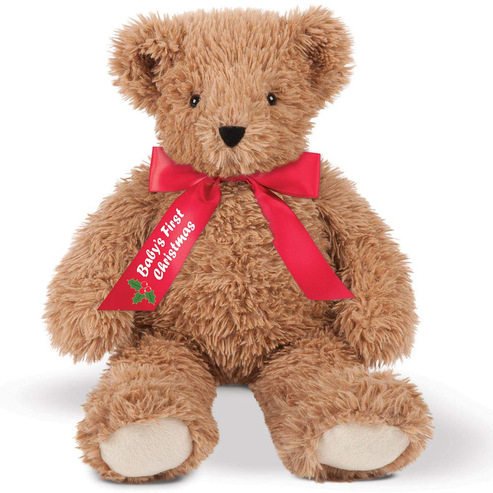 Vermont Teddy Bear Babys First Christmas - Baby First Christmas, Red Bow, 18 Inch, Super Soft