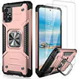 IKAZZ Samsung A51 5G Case,Galaxy A51 5G Cover Dual Layer Soft Flexible TPU and Hard PC Anti-Slip Full-Body Rugged Protective
