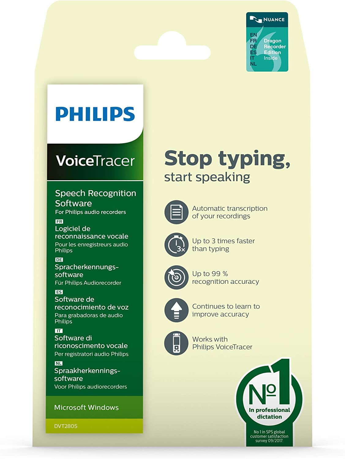 Philips DVT2805 Voicetracer Speech Recognition Software