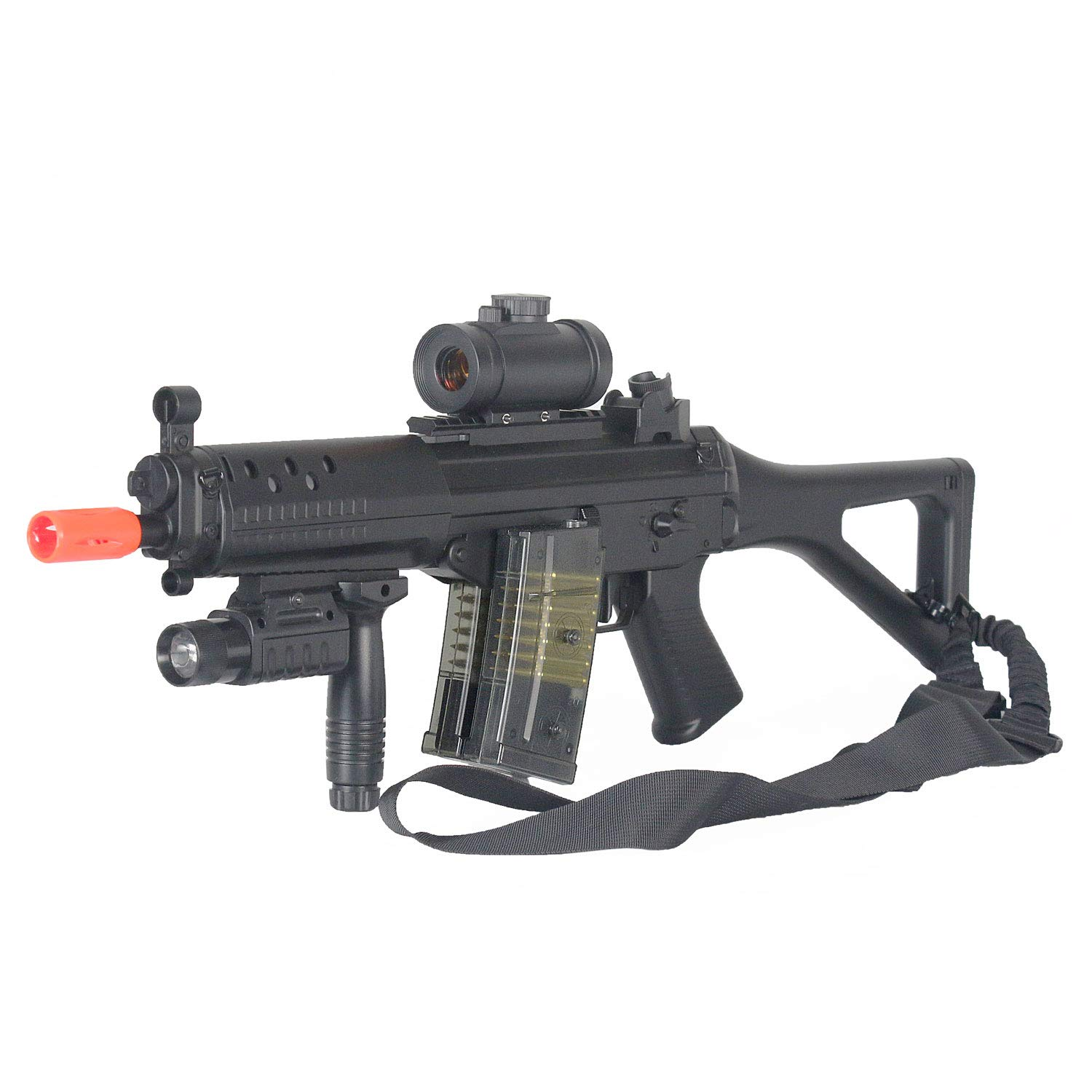 BBTac Double Eagle Airsoft Gun AEG Electric Rifle Full Auto Great Starter with Premium Airsoft Carrying Sling by BBTac