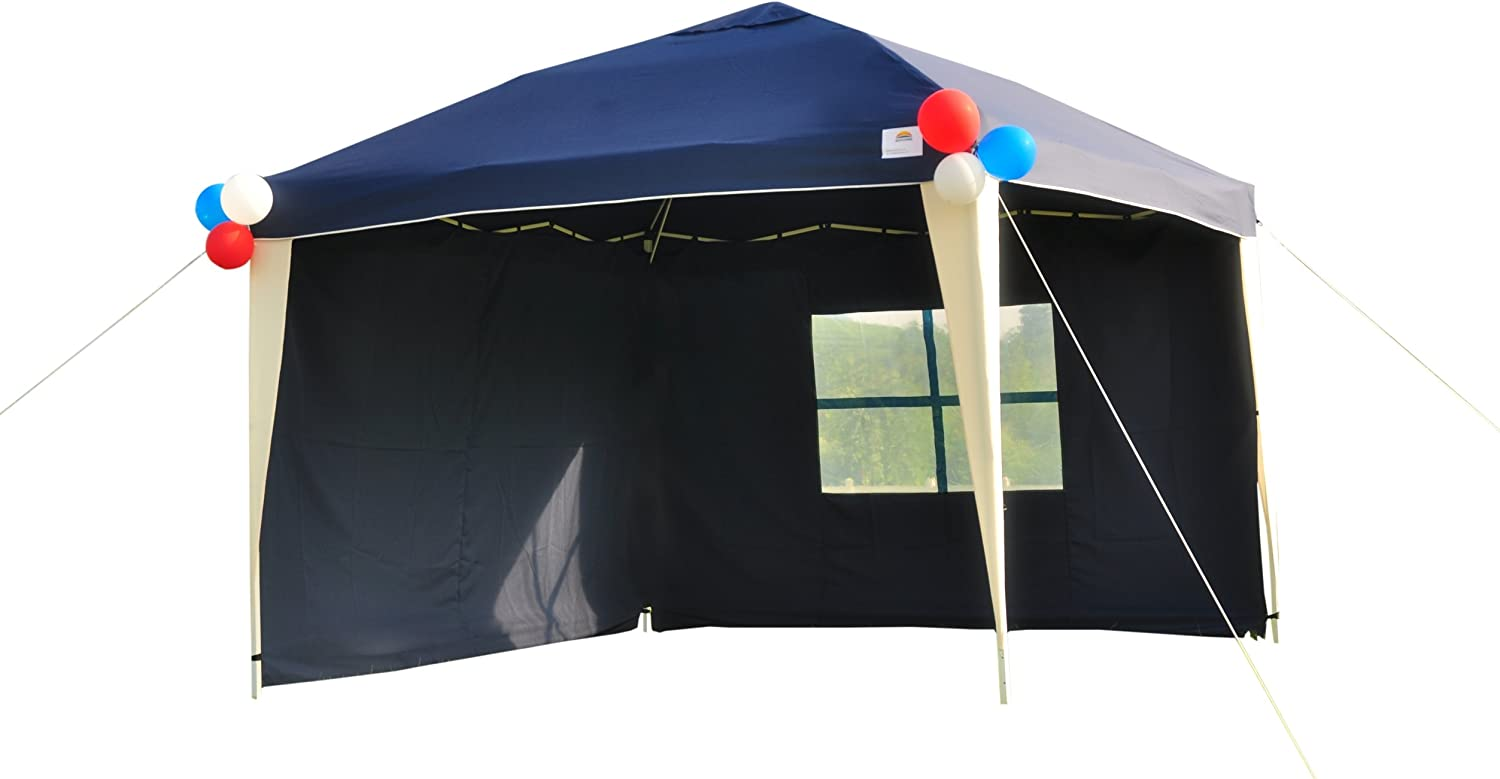 GOJOOASIS 10×10 EZ Pop Up Canopy Tent Instant Shelter with 2 Sidewalls