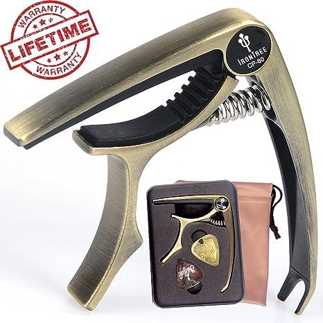 IronTree - Cejilla para guitarra acústica y eléctrica (con caja de metal y bolsa de