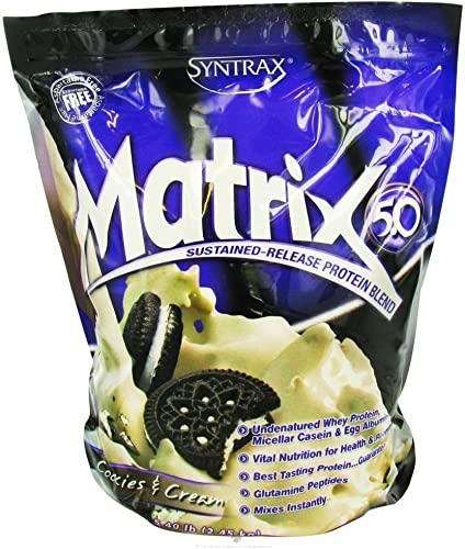 Syntrax Matrix Sustained-Release Protein Blend *Cookies Cream* 5 lbs.