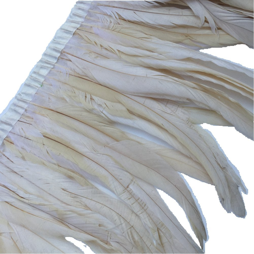 orange Sowder Rooster Feather Fringe Trim 12-14 in Width Pack of 1 yard