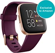 Fitbit Versa 2 Health & Fitness Smartwatch with Heart Rate, Music, Alexa Built-in, Sleep & Swim Tracking, Bordeaux/Copper Ros