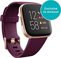Fitbit Versa 2 Health & Fitness Smartwatch with Heart Rate, Music, Alexa Built-in, Sleep & Swim Tracking,...