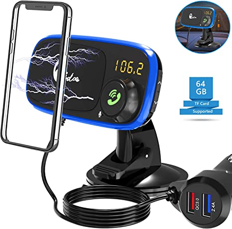 Wireless Bluetooth Car FM Transmitter Mp3 Player Handsfree Suction Cup Holder