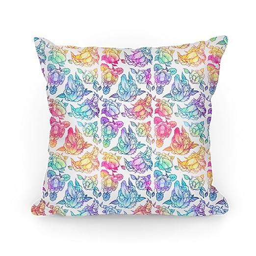 Amazon.com: Huisfa - Funda de cojín con diseño floral de ...