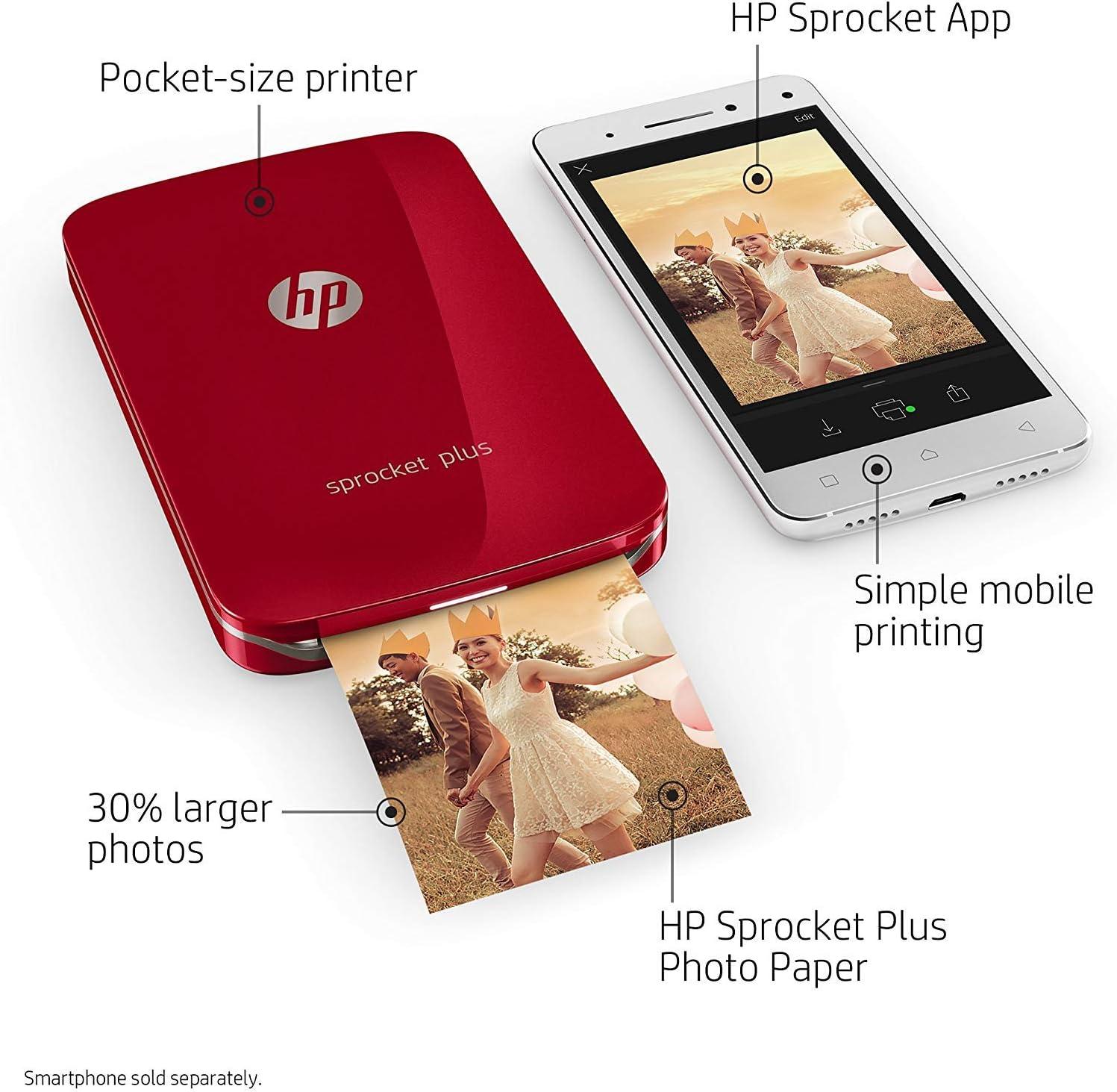 HP Sprocket Plus impresora de foto ZINK (Zero ink) 313 x 400 DPI ...