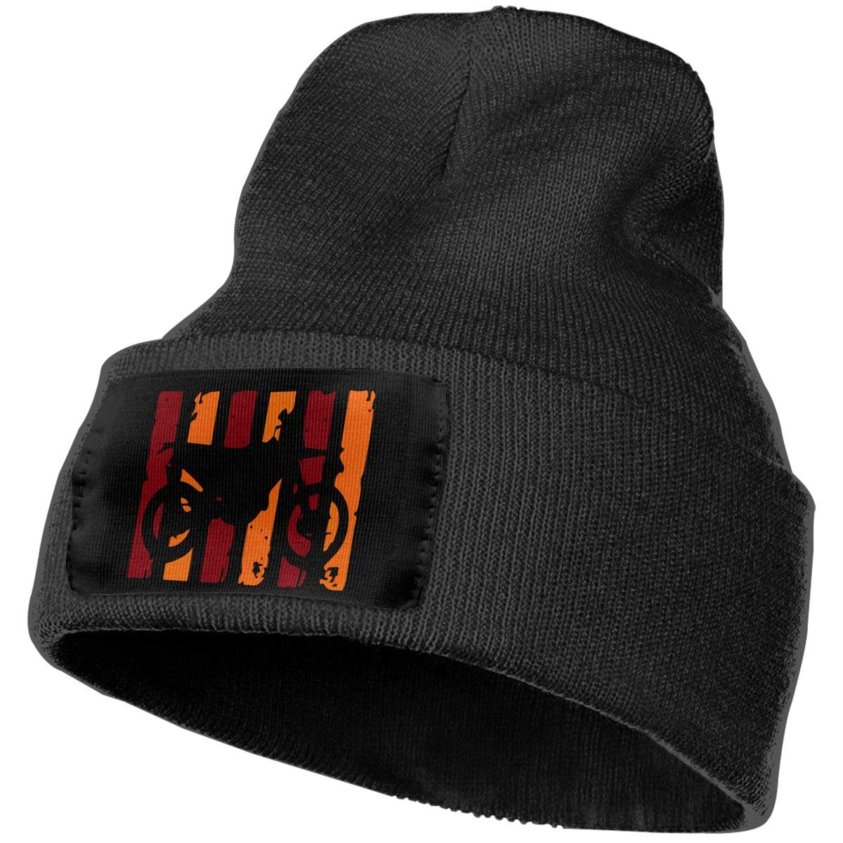 COLLJL-8 Men /& Women Orange /& Red Dirt Bike Flag Outdoor Fashion Knit Beanies Hat Soft Winter Knit Caps