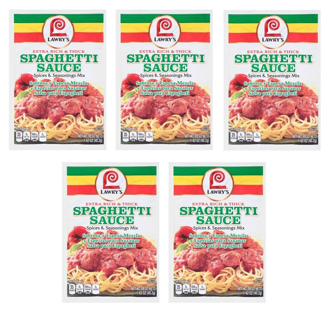 Amazon.com : Lawrys Mix Seasoning Spaghetti Rich Thick, 1.42 oz : Gourmet Food : Grocery & Gourmet Food