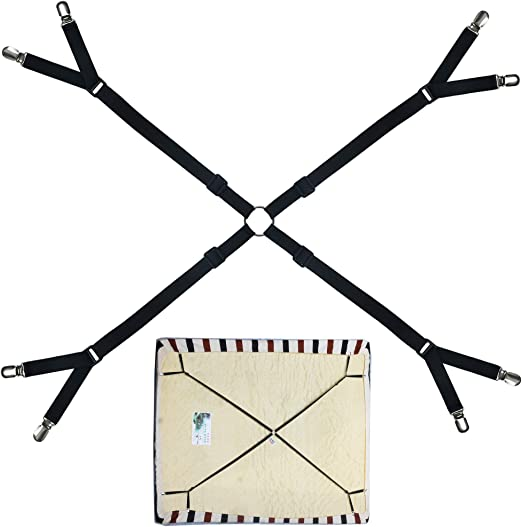 Crisscross Adjustable Bed//Fitted Sheet Placing Straps Gripper//Holder//Fastener