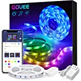 Govee LED Strip Lights(16.4ft), WiFi Wireless Smart Phone APP Controlled 5050 LED Tape Lights,Non-Waterproof 150 LEDs Music Sync LED Lights,Working with Android/iOS System, Alexa(Not Support 5G WiFi)